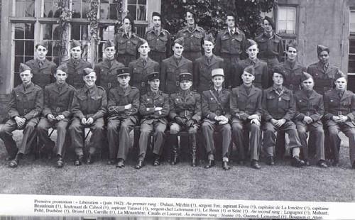 1942- Cadets de la France Libre - Première promotion Libération  - français libres.net