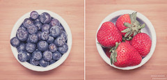 Blueberries & Strawberries photo by Ernie Kwong Photography
