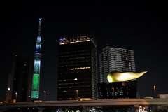 Tokyo Sky Tree and Asahi Beer Hall - EXPLORED photo by AnotherSaru - Limited mode