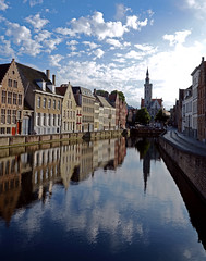 Evening on Spiegelrei, Bruges photo by CarolynEaton