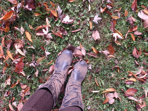 Boots Tights Leaves