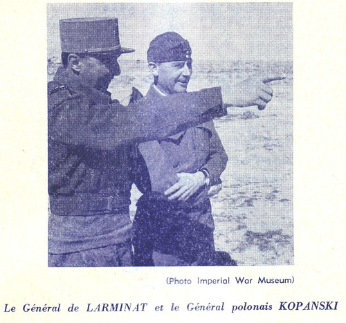 De Larminat- 1942- Libye - G de Larminat et Général  polonais Kopanski IMW