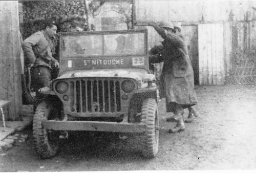 11e Cuirassiers - Franche Comté - Gouhemans - Oct 1944 : la jeep que des cuirassiers ont