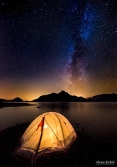 Asleep under the Milky Way photo by Alexis Birkill Photography