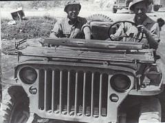 1944- Provence- Aspirant Aumont jeep QG DFL- col part - Paul  Gaujac