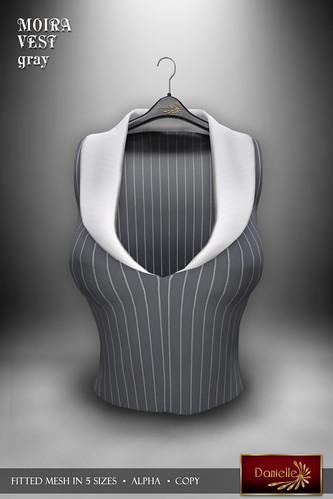 DANIELLE Moira Vest Gray