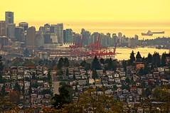 Vancouver City Skyline at Sunset photo by TOTORORO.RORO