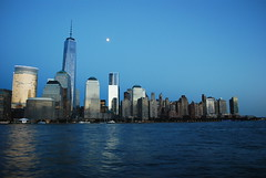 The moon over Manhattan