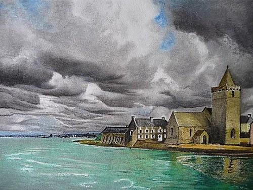 Temps orageux sur Portbail
