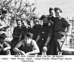 BM 4 Chambarand - 1945 Avril_Sospel_Groupe - Fonds Emile Gauthier