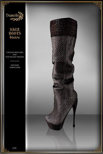 DANIELLE Sage Boots Bistre