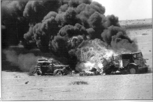 1942- Bir Hakeim- convoi britannique détruit en Libye