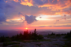 Sunset at Cadillac mountain photo by Sergii Kyrychenko