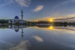 Calm Morning with Vertical Straight Rainbow | HDR photo by Mohamad Zaidi Photography