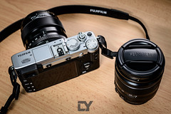 My travel system, the Fujifilm X-series feat. X-E2, FUJINON LENS XF18-55mmF2.8-4 R LM OIS and FUJINON LENS XF23mmF1.4 R. photo by CY Pixels
