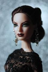 My Repainted Barbie Doll as Vampire Bride. photo by little dolls room