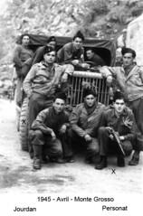 BM 4 Chambarand - 1945 Avril_Monte Grosso Jourdan et Perona - Fonds Emile Gauthier