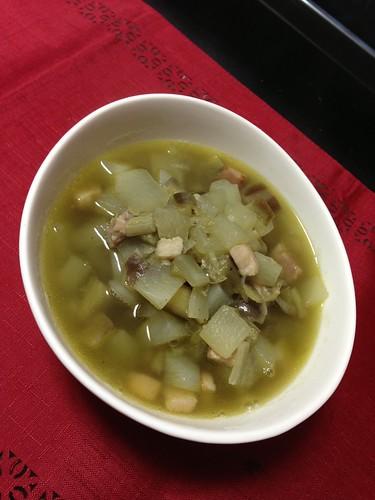 大根と青エンドウのスープ