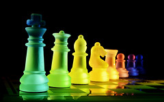 Chess pieces photo by SilverishFox