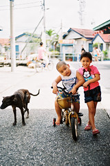Cute Kids & Stray Dog photo by Yeow8