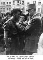 BM4 - Chambarand - 1944 14 Septembre_Lyon- RogerPerdriaux - Croix Guerre - Gl de Gaulle -Fonds Emile Gauthier
