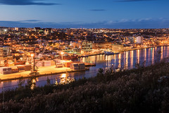 vivid twilight at St. John's harbour photo by tuanland