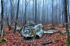 Downed training plane from the 1960's in West Milford, NJ photo by Eugene Lagana