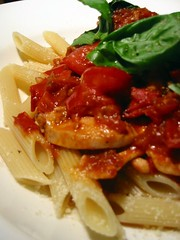 Cherry Tomato & Chicken Penne with Basil