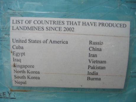Singapore Land Mines