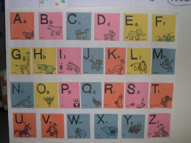 Alphabet Charts With Pictures Picture of This Chart