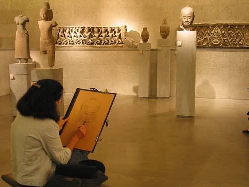 博物館裡的素描
