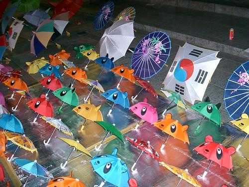 Market umbrellas, Seoul