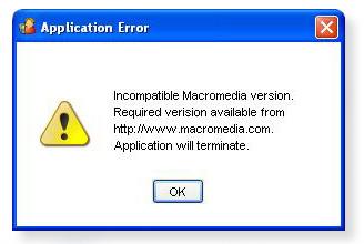 Error-macromedia-k750i