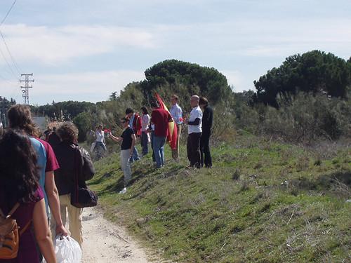 Bandera de España y pitos