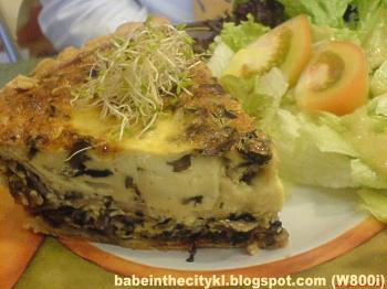 cafe marmalade ham & mushroom quiche