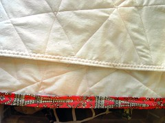 Log Cabin Pillow Tutorial: Finishing Back Edges