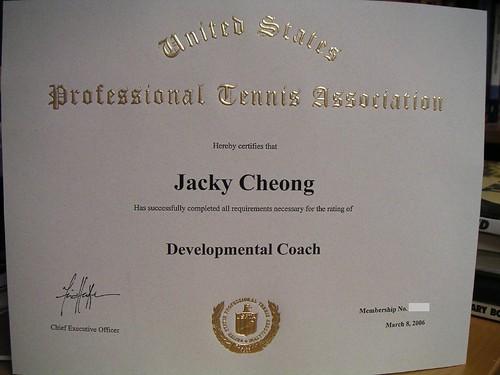 ATP Tennis Travels: USPTA Developmental Coach Certificate