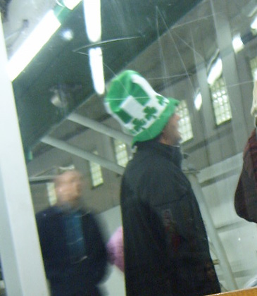 St Patricks Day Hat at Hammersmith