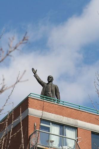 Lenin leading the lower east side