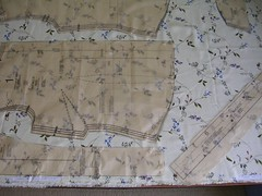 pattern laid out