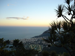 Sunset on the Corcovado mountain