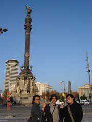 Monument Christopher Columbus kat Port Vell, Barcelona, Spain