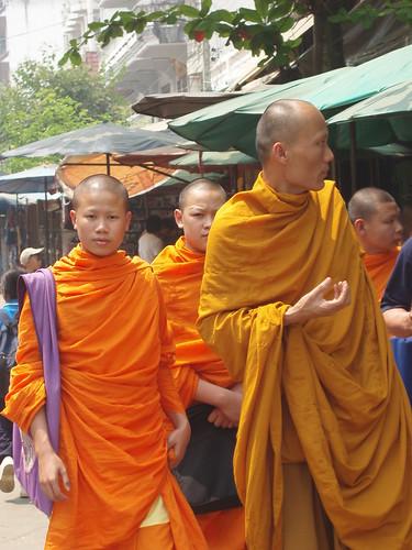 Monks shop, shop, shop