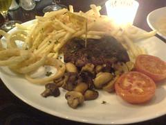 8oz Aberdeen Angus steak fillet at The Sizzlin' Scot, Edinburgh