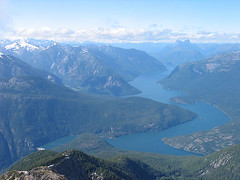 Mt Prophet (Left), Ross Lake And Hozomeen Mtn (Right) From Ruby Mtn
