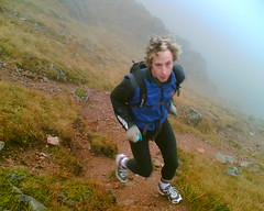 Running on Ben Cruachan