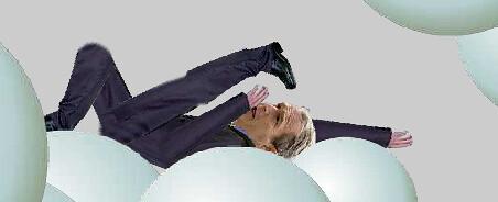 Georgie W. Bush falling