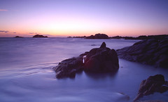 Sunset over Grandes Rocques, Guernsey