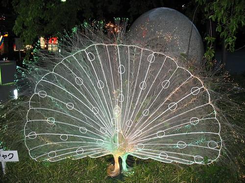 Ueno park - neonski paun