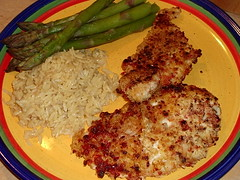 Sun-dried tomato chicken dinner